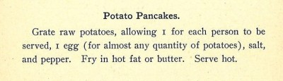 From Pots, Pans, and Pie Plates, and How to Use Them: A Collection of Tried Receipts, JMM 1999.105.1