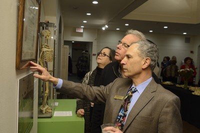 Drs. Ira Papel and Robert Keehn check out the displays.