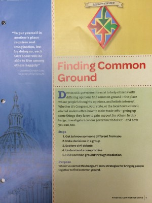 Finding Common Ground Badge