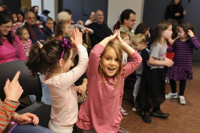 Some spirited dancing at our Joanie Leeds Chanukah Concert!