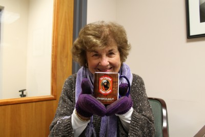 Shop Manager Esther Weiner will be thrilled to sell you a mug - she can even gift wrap it for you!