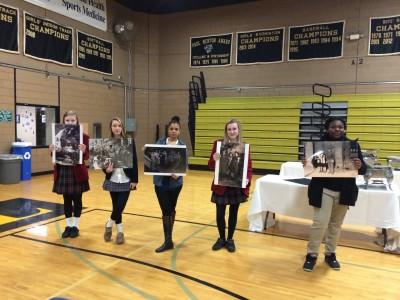 As a culminating activity, students create a timeline of photos.