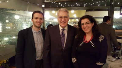 Michael and Victoria Drob with Frank Risch