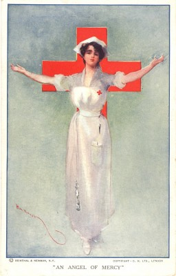 """An Angel of Mercy,"" Hal Hurst. C. 1914-1918, Michael Zwerdling ""Postcards of nursing"" collection, National Library of Medicine."