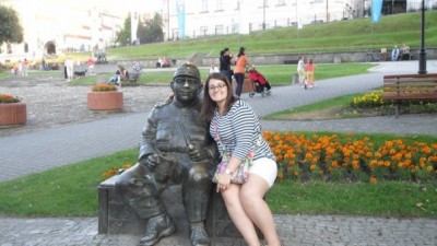 The Good Soldier and myself in Przemysl, Poland.