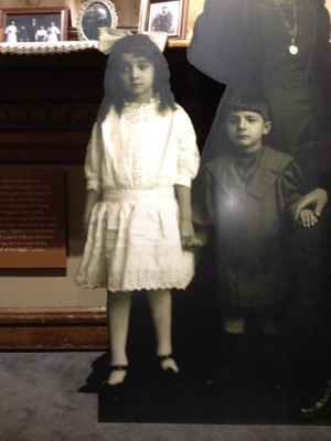 Two of Saye family children, immigrants from Eastern Europe.