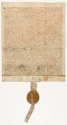 Magna Carta, 1297.   On display in the new David M. Rubenstein Gallery. Presented courtesy of David M. Rubenstein.