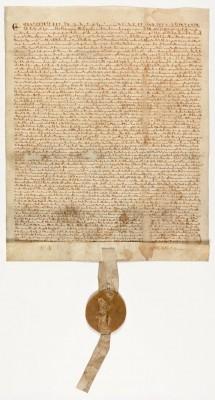 Magna Carta, 1297.   On display in the new David M. Rubenstein Gallery. Presented courtesy of David M. Rubenstein.