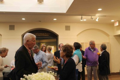 Members of the museum and special guests enjoy cocktails and kosher refreshments.