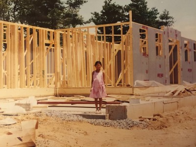 This is me, age eight, standing in front of my new house being built. Although we only lived here for a year, this was a milestone for my family because it was the first home that truly belonged to us. No more living in relative's homes and no more renting.