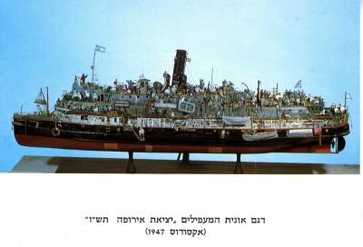 a ship model,