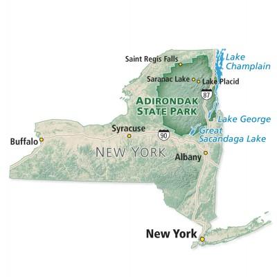 Map of Adirondack Park