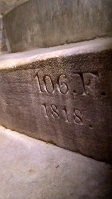 1818 marker denoting 106 feet