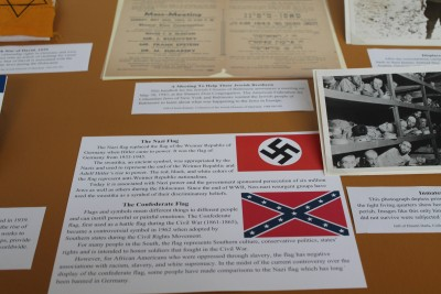 These are pictures of the Nazi and Confederate flags to show how flags represent different things to people, and can have painful associations and connections to injustices.