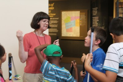 Museum Educator and Docent Robyn Hughes hard at work.