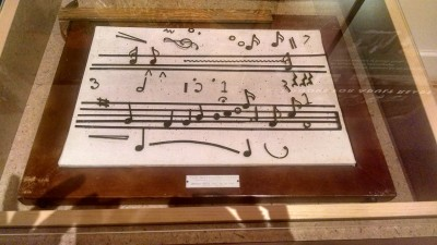 A display on music at APH