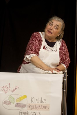 Actor Terry Nicholetti brings to life the story of Bessie Bluefeld, a Russian immigrant who established Baltimore's beloved Bluefeld's catering business.
