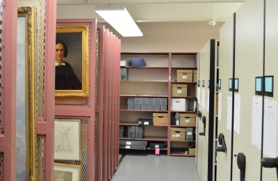 Collections Storage Room 2, JMM, on a Tuesday
