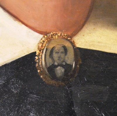 Detail view of Mrs. Herstein's brooch. JMM 2005.60.1