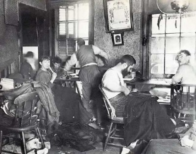 Sweatshop in Hester St, 1889-90