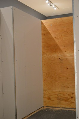 Plywood and drywall - these walls mean business.
