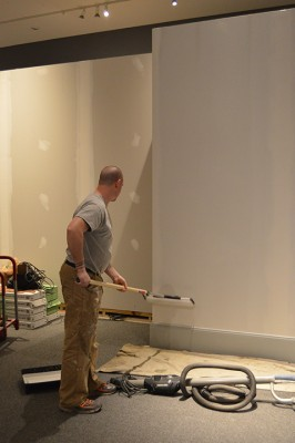 Some finishing touches: baseboards and paint.