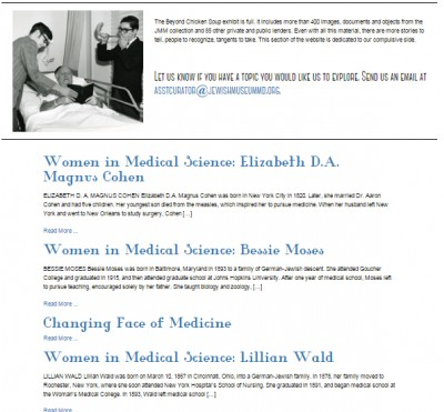 "Miscellaneous includes our ""Women in Medical Science"" series and our ""Changing Face of Medicine"" gallery."