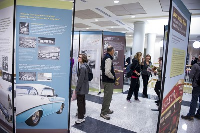 Jews on the Move was developed as a collaborative project with The Program in Museums and Society at the Johns Hopkins University. It was originally installed in 2012 at the Johns Hopkins University. It has since been featured at many additional venues including the main branch of the Enoch Pratt Library and several synagogues.
