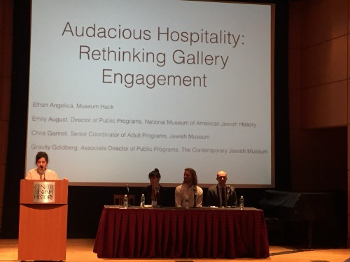 "Audience engagement through non-traditional means was emphasized in the final panel of the conference, ""Audacious Space: Rethinking Gallery Engagement""."