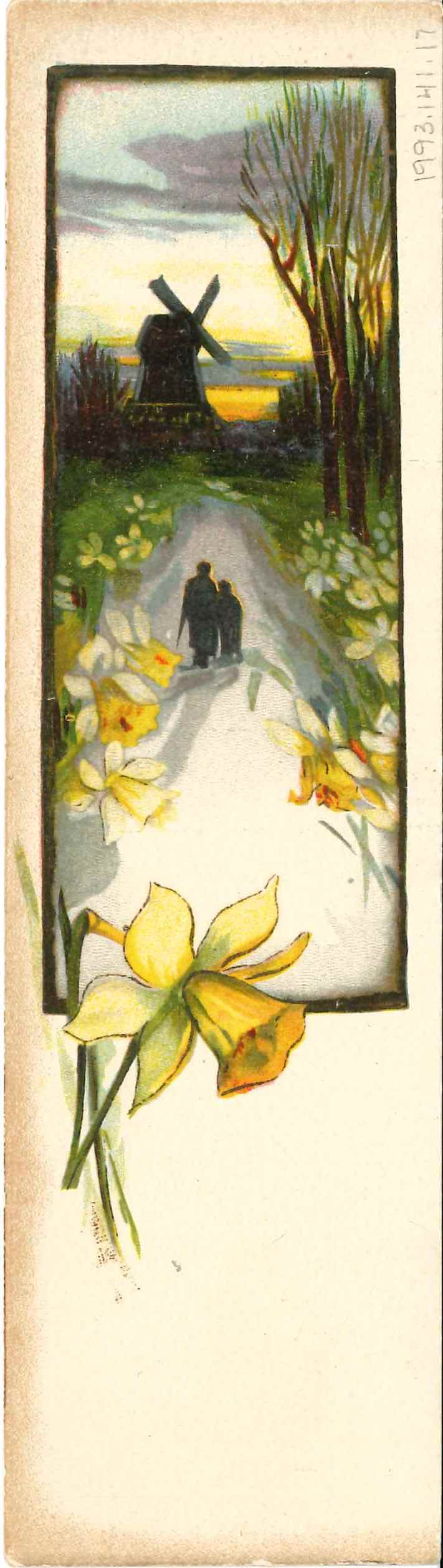 Bonus daffodils! An illustration from a giveaway bookmark, advertising the book department at Joel Gutman & Co., circa 1915. Anonymous donation.  JMM 1993.141.17