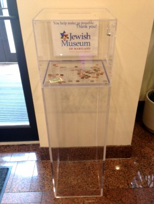Our nifty new donations box.