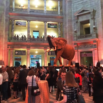 "I concluded my experience with a stop by the Party ""Inside the Great American Outdoors"" at the Smithsonian's National Museum of Natural History. I felt privileged to be able to explore the museum after-hours with many of my colleagues."