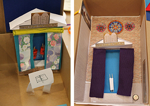 Some examples of some of the synagogues our visitors created
