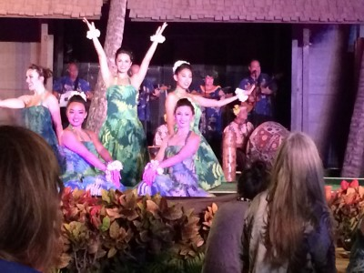 The luau dancers
