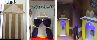 Examples of synagogues the Education team created