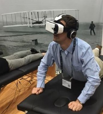 I also tried out a virtual reality station about the Wright Brothers flight and bought two books to help me in my current position.