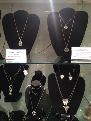 Some of the beautiful necklaces available in the shop!