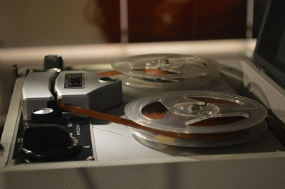 As they spoke, their voices were recorded with a reel to reel recording device.