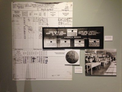 Part of the eugenics display