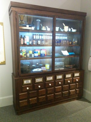 The  pharmacy cabinet