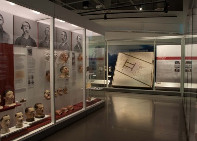 "Military medicine - past, present and future - is featured in the exhibit ""Advances in Military Medicine"" at the National Museum of Health and Medicine in Silver Spring, Md. The exhibit features challenges overcome by military medicine during the past 200 years, with artifacts drawn from across the museum's collections. Items on display include medical and surgical kits, facial reconstruction masks, the floor of an Air Force tent hospital from Balad, Iraq and more. (Courtesy of National Museum of Health and Medicine, Silver Spring, Md.)"