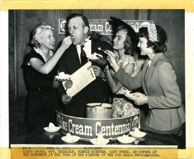 That morning, Governor McKeldin signed the Ice Cream Proclamation, which declared June 15, 1951 to be National Ice Cream Day.