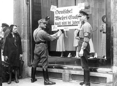 Nazis close Jewish businesses in Germany