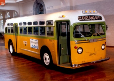 The Rosa Parks Bus, Restored and Displayed by the Henry Ford Museum.