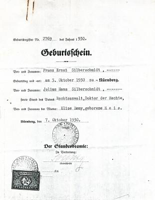 US Certificate of Citizenship 1946, Ernest Silversmith. JMM 2012.046