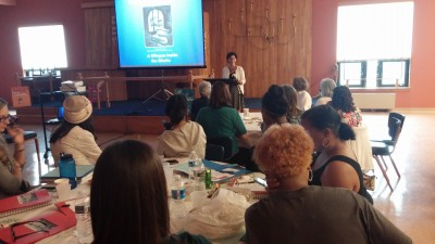 JMM Education Director Ilene Dackman-Alon welcomes participants at the opening of our 2016 Summer Teachers Institute.