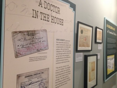 "JMM's ""Beyond Chicken Soup"" exhibit explores the cultural basis behind the ""Jewish doctor"" stereotype. Credit: Jewish Museum of Maryland"