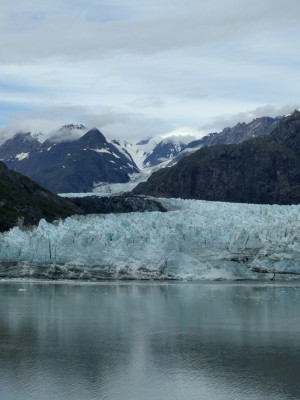 This was late because I was in Alaska, so here's a picture of the John's Hopkins Glacier.