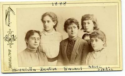 Henrietta Szold with her sisters Bertha, Rachel, Adele, and Sadie, 1888. JMM 1992.242.6.20c