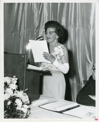 Sarah Barron at a testimonial dinner given in her honor at the Pikesville Armory, April 1967. JMM 1993.58.4d